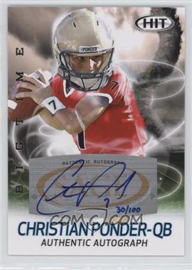 2011 SAGE Hit Big Time Autographs #ABT10 - Christian Ponder /100