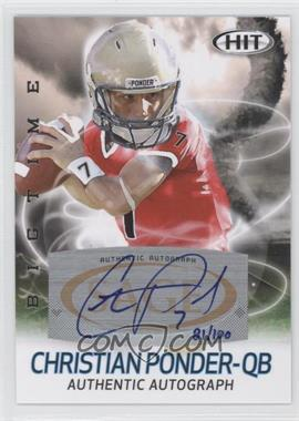 2011 SAGE Hit Big Time Autographs #ABT10 - Christian Ponder /100
