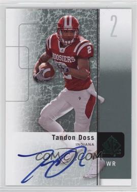 2011 SP Authentic - [Base] - Autographs [Autographed] #88 - Tandon Doss