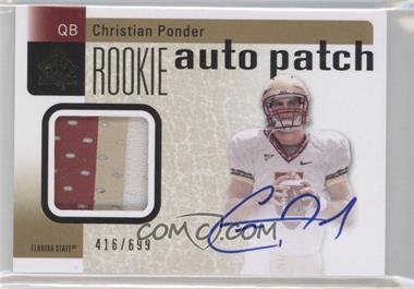 2011 SP Authentic - [Base] #229 - Christian Ponder /699