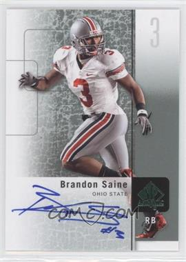2011 SP Authentic Autographs [Autographed] #23 - Brandon Saine