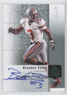 2011 SP Authentic Autographs [Autographed] #23 - Brandon Saine