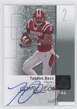 2011 SP Authentic Autographs [Autographed] #88 - Tandon Doss