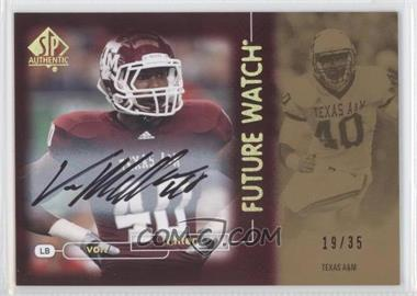 2011 SP Authentic Gold Autographs [Autographed] #118 - Von Miller