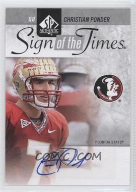 2011 SP Authentic Sign of the Times #ST-CP - Christian Ponder