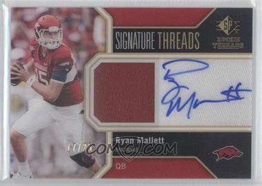 2011 SP Authentic Signature Threads #TH-RM - Ryan Mallett /25