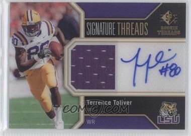 2011 SP Authentic Signature Threads #TH-TT - Terrence Toliver /99