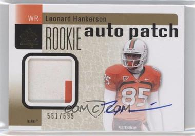 2011 SP Authentic #212 - Leonard Hankerson /699