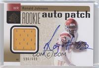 Ronald Johnson (Rookie Auto Patch) /699