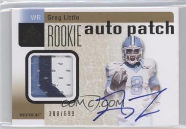 2011 SP Authentic #219 - Greg Little /696