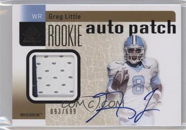 2011 SP Authentic #219 - Greg Little /699