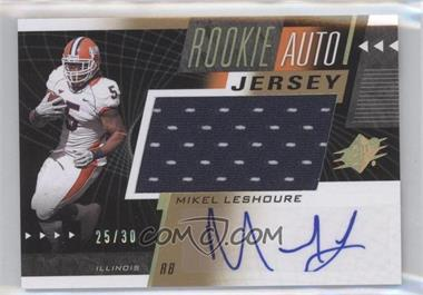 2011 SPx Rookie Auto Jersey Gold #57 - Mikel Leshoure /30