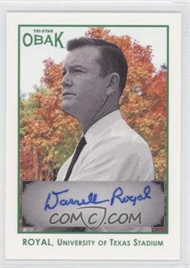 2011 TRI-STAR Obak - Autographs - Green #A33 - Darrell Royal /25