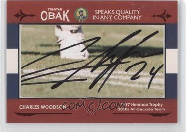 2011 TRI-STAR Obak Cut Signatures Red #N/A - Charles Woodson /5