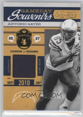 2011 Timeless Treasures - Gameday Souvenirs - 4th Quarter Prime #24 - Antonio Gates /25