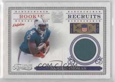 2011 Timeless Treasures - Rookie Recruits Materials #30 - Daniel Thomas /250