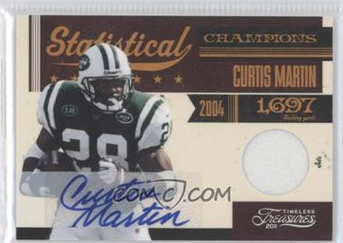 2011 Timeless Treasures - Statistical Champions Materials - Signatures [Autographed] #13 - Curtis Martin /15