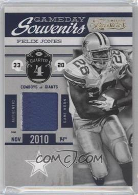 2011 Timeless Treasures Gameday Souvenirs 4th Quarter Prime #1 - Felix Jones /25