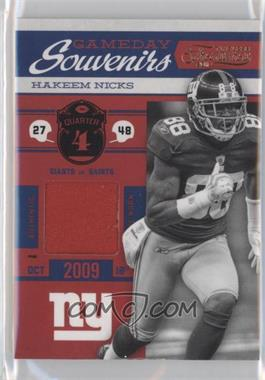 2011 Timeless Treasures Gameday Souvenirs 4th Quarter Prime #25 - Hakeem Nicks /25