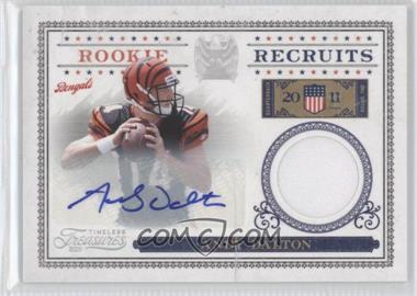 2011 Timeless Treasures Rookie Recruits Materials Signatures [Autographed] #1 - Andy Dalton /100