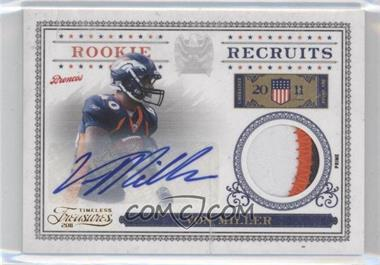 2011 Timeless Treasures Rookie Recruits Materials Signatures Prime [Autographed] #17 - Von Miller /25
