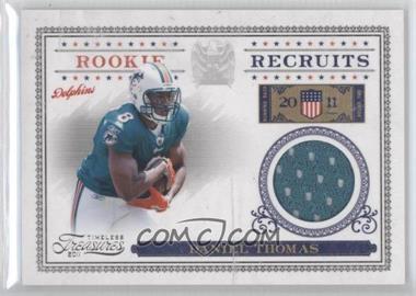 2011 Timeless Treasures Rookie Recruits Materials #30 - Daniel Thomas /250