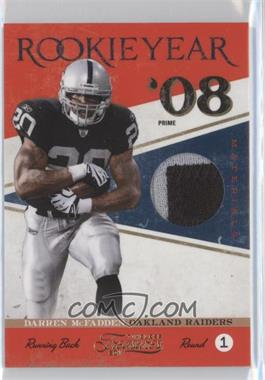 2011 Timeless Treasures Rookie Year Materials Prime #5 - Darren McFadden /25