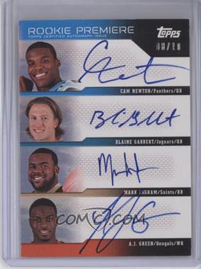 2011 Topps - Rookie Premiere Qaud Autographs #RDQA-NGIG - Cam Newton, Blaine Gabbert, Mark Ingram, A.J. Green /10