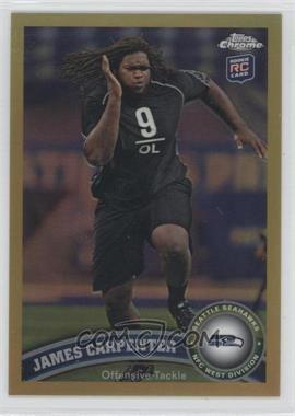 2011 Topps Chrome Gold Refractor #164 - James Carpenter /50