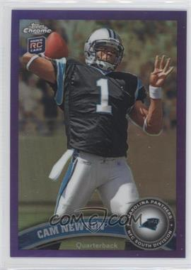 2011 Topps Chrome Retail Purple Refractor #1 - Cam Newton /499