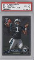Cam Newton (Throwing Ball) [PSA 8]