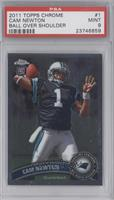 Cam Newton (throwing ball) [PSA 9]
