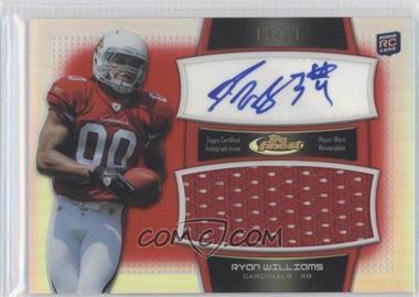 2011 Topps Finest - Autograph Jumbo Relics - Red Refractor #AJR-RW - Ryan Williams /10