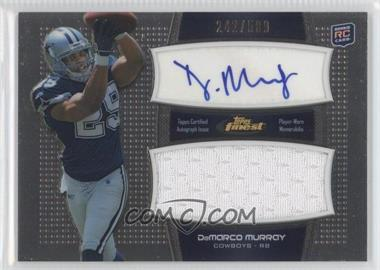 2011 Topps Finest - Autographed Jumbo Relic #AJR-DM - DeMarco Murray /589