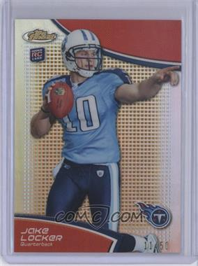 2011 Topps Finest - [Base] - Gold Refractor #111 - Jake Locker /50