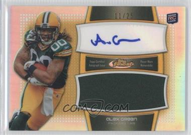 2011 Topps Finest Autograph Jumbo Relics Gold Refractor #AJR-AG - Alex Green /25