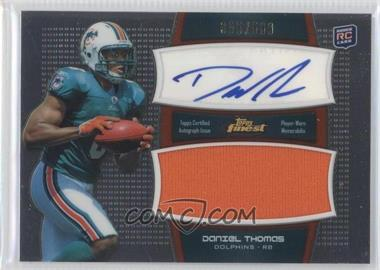 2011 Topps Finest Autographed Jumbo Relic #AJR-DT - Daniel Thomas /500