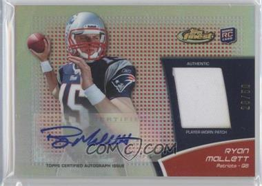 2011 Topps Finest Rookie Autograph Patch Red Refractor #RAP-RM - Ryan Mallett /50