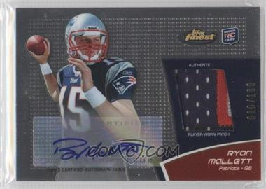 2011 Topps Finest Rookie Autograph Patch #RAP-RM - Ryan Mallett /100