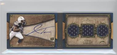 2011 Topps Five Star Futures 3-Piece Autographed Book Gold #FSFA3-JT - Jordan Todman /15