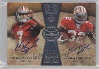 Colin Kaepernick, Kendall Hunter /20