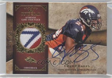 2011 Topps Five Star Signatures Patch Gold #FSSP-CB - Champ Bailey /40