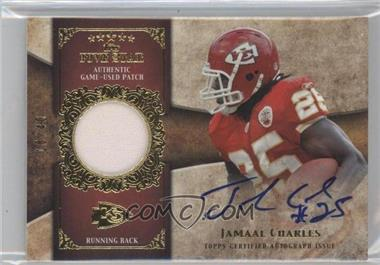 2011 Topps Five Star Signatures Patch Gold #FSSP-JC - Jamaal Charles /40