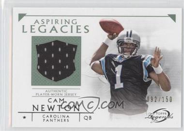 2011 Topps Gridiron Legends Aspiring Legacies Relics Green #ALR-CN - Cam Newton /150