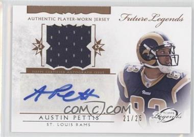 2011 Topps Gridiron Legends Future Legends Autographed Relic #FLAR-AP - Austin Pettis /25