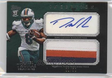2011 Topps Inception - Rookie Autographed Jumbo Patch - Green #AJP-DT - Daniel Thomas /50