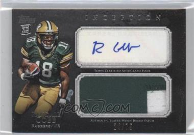 2011 Topps Inception - Rookie Autographed Jumbo Patch - Grey #AJP-RC - Randall Cobb /75
