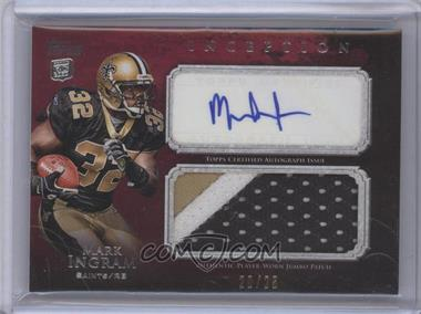 2011 Topps Inception - Rookie Autographed Jumbo Patch - Red #AJP-MI - Mark Ingram /25