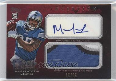 2011 Topps Inception - Rookie Autographed Jumbo Patch - Red #AJP-ML - Mikel Leshoure /25