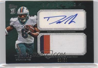 2011 Topps Inception Rookie Autographed Jumbo Patch Green #AJP-DT - Daniel Thomas /50